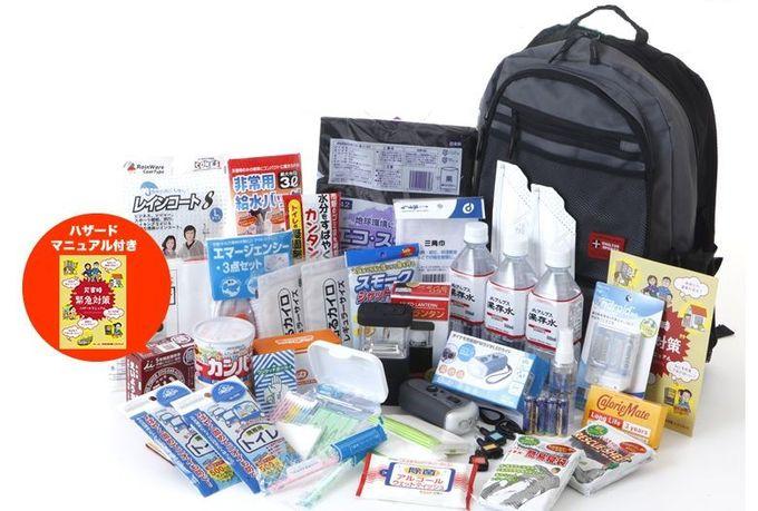 防災セット ハザードリュック 福島県の被災者考案の「非常用持ち出し袋36点セット」