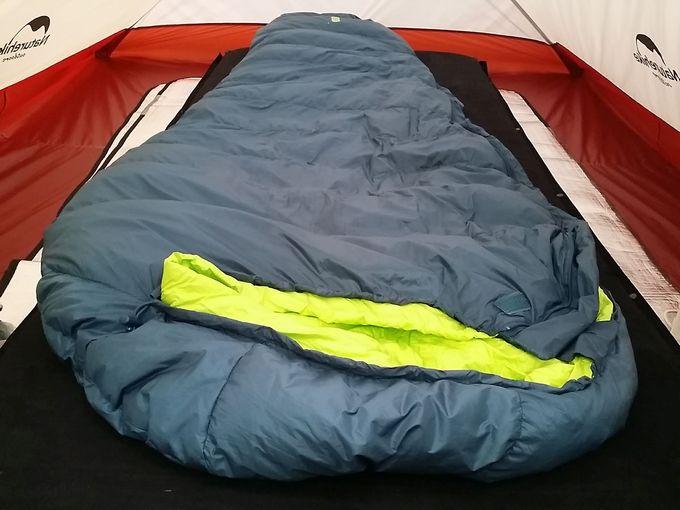 Xiaomi Zaofeng ダウン寝袋をテント内で使う