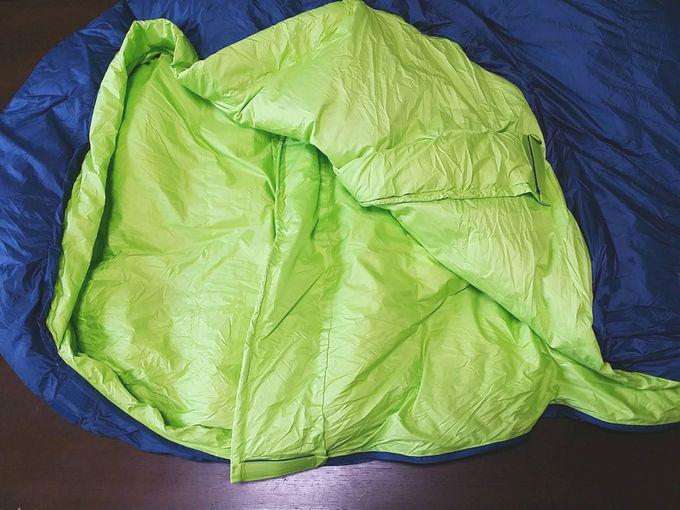 Xiaomi Zaofeng ダウン寝袋の放熱対策